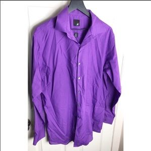 J ferrar 16 16.5 large 34-35 purple button down